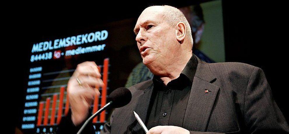 <b>- FREKKIS:</b> LO-leder Roar Flåthen er ikke imponert av Frp.