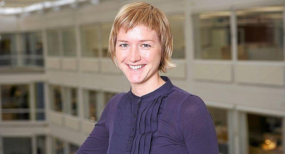 <b>VENTER STABILISERING:</b> Analytiker Katrine Boye i Nordea tror fallet i den tradisjonelle eksporten vil dempes fremover.