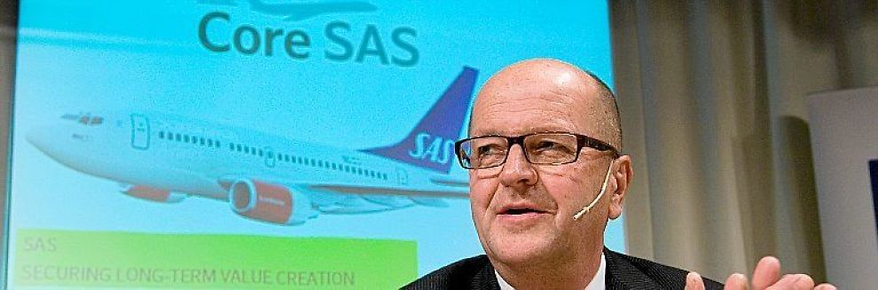 <b>FYLLER KASSEN:</b> SAS-sjef Mats Jansson får 6 milliarder kroner i ny egenkapital.