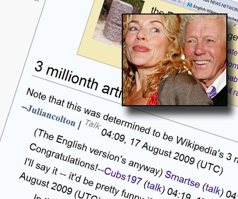 <b>KAN FEIRE:</b> Det er ikke hver dag man blir artikkel nummer tre million på Wikipedia. Det ble Beate Eriksen, mens Toralv Maurstad må ta til takke med et mye lavere tall.