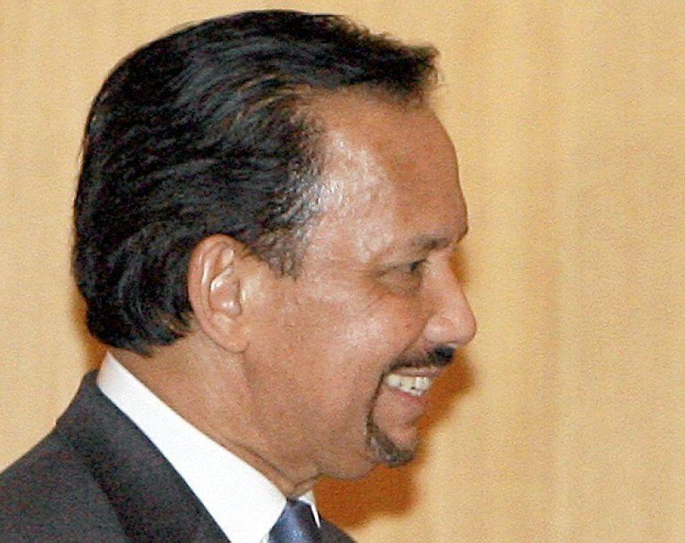 <b>FAST FRISØR:</b> Sultanen av Brunei, Hassanal Bolkiah, liker å bruke sin faste frisør.
