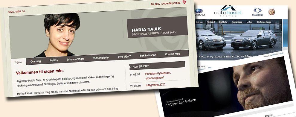 <b>DIGITAL MARKEDSFØRING: </b> Hadia Tajik er blant de bedrifter og politikere som får bistand til netttsider.