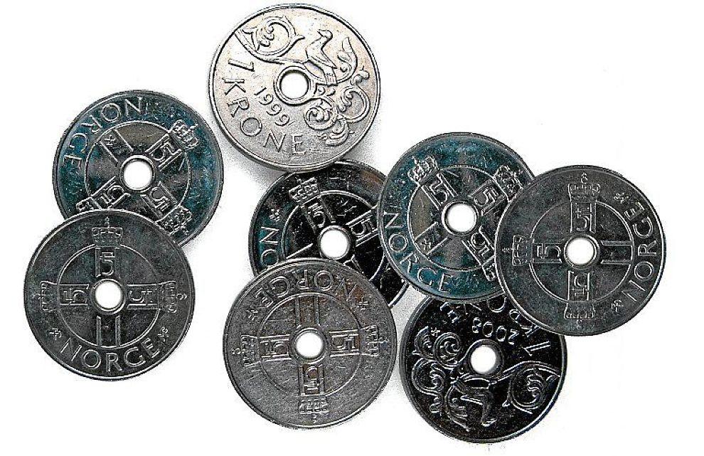 euro til kroner