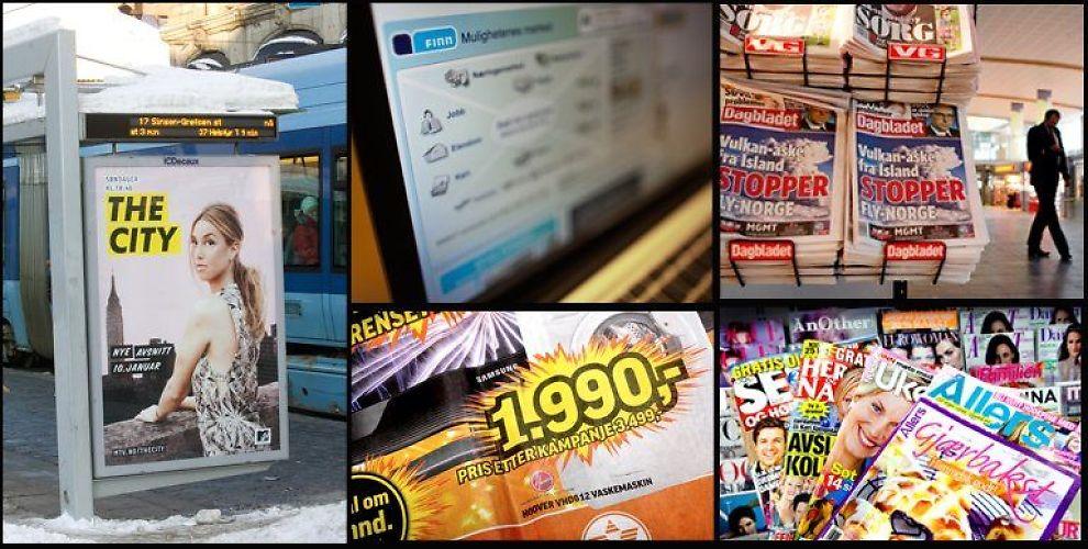 <b>NEDTUR:</b> 2009 ble et tøft år for annonseselgerne i Norge.