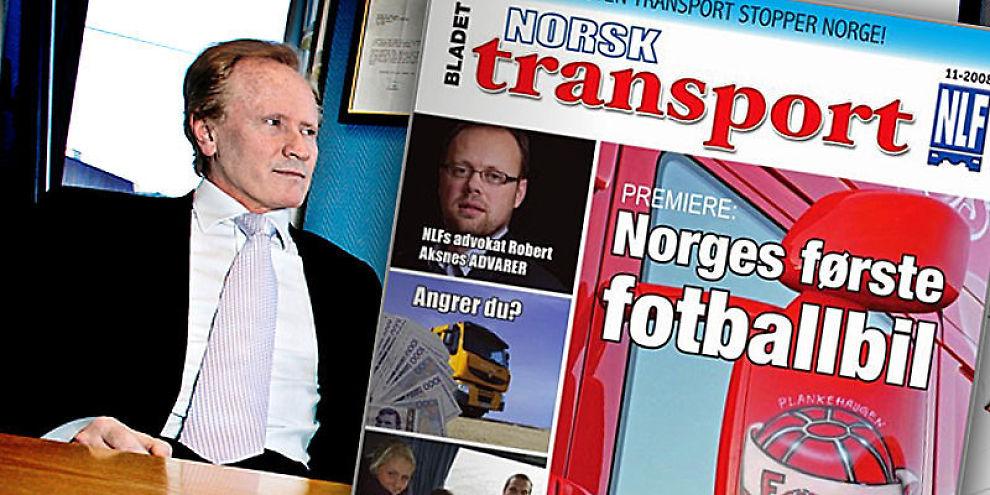 ADVARTE FEIL Det var i 2008 Bladet Norsk Transport omtalte Per Danielsens klient.