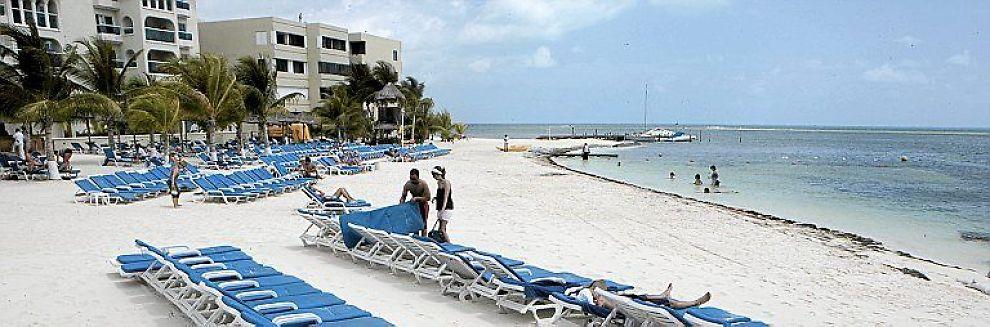 KLIMATOPPMØTET: Her fra stranden i Cancun.