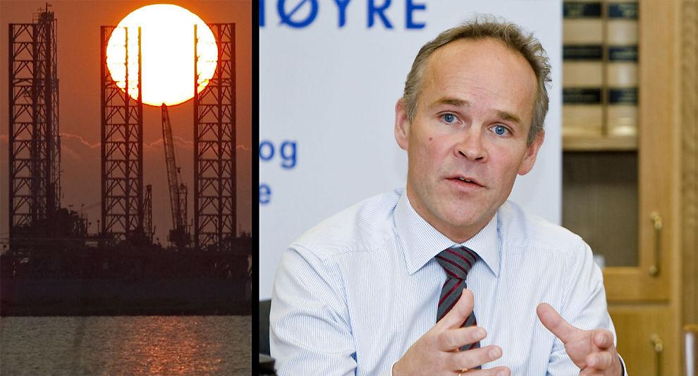 BEKYMRET: Solen vil etter hvert gå ned over den norske oljevirksomheten. Det kommende tiåret må handle om hvordan Norge skal klare seg uten oljeinntekter, mener Høyres Jan Tore Sanner.