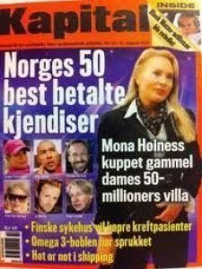PÅ FORSIDEN: «Mona Høiness kuppet gammel dames 50-millioners villa»