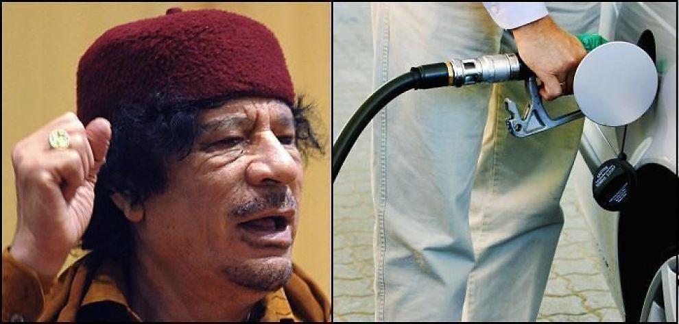 <b>PRISSJOKK:</b> Bensinprisen er dyrere enn noensinne, som følge av at oljeprisen stiger til værs under krisen i Libya, hvor diktatoren Muammar al-Gaddafi nekter å gi opp.