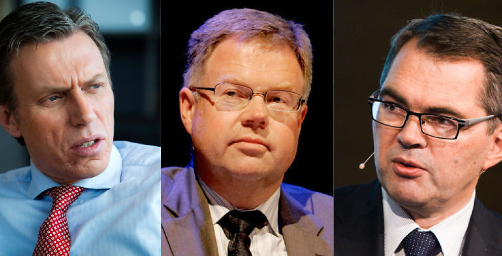 <p>SELVDYRKEDE STJERNER: Både konsernsjefene Rolv Erik Ryssdal i Schibsted, Bjørn Wiggen i Orkla og Svein Richard Brandtzæg i Hydro er rekruttert fra egne rekker. Ifølge en amerikansk undersøkelse gjør denne type sjefer det best.</p>