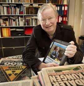 MANGE FORMATER: Tidligere ansvarlig redaktør i VG, Bernt Olufsen, har lansert mange varianter av VG. Høsten 2010 startet han arbeidet med å pusse opp papiravisen.