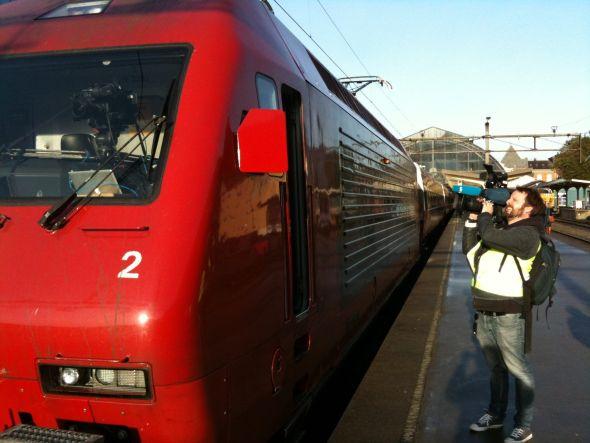 PÅ SPORET: I 2009 sendte NRK2 en dokumentar der hele turen på Bergensbanen ble filmet.