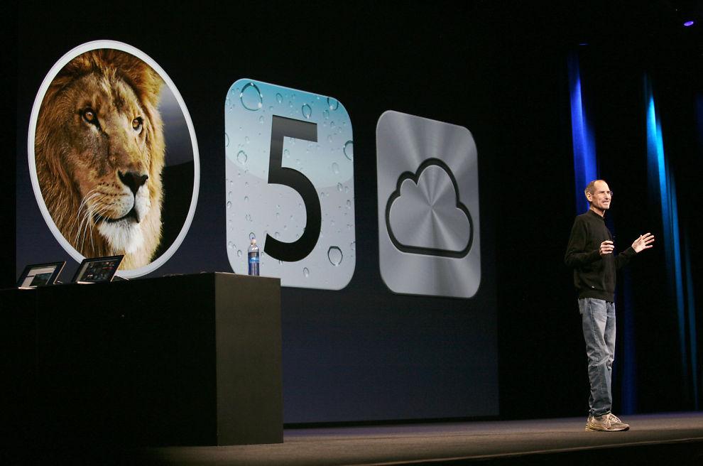 IKKE IMPONERT: Apple-sjef Steve Jobs trosset sykmeldingen for å introdusere selskapets neste satsinger, blant dem iCloud. Men hverken markedet eller IT-eksperter jubler.