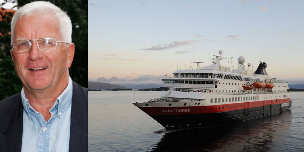 LYKKELIG KAPTEIN: Trygve Hegnar er styreleder og største aksjonær i Hurtigruten. Hegnar sier han selv følger med på sendingen fra MS Nordnorge