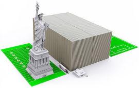 Slik ser det ut om en stabler opp femten tusen milliarder dollar, som USAs statsgjeld nærmer seg, i hundredollarsedler.