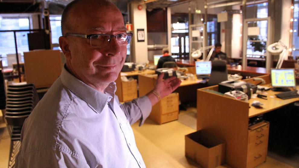PENGER FOR GULL: Bjørn Lundby, daglig leder ved Lånekontoret i Oslo, gir deg lån for gullet ditt.