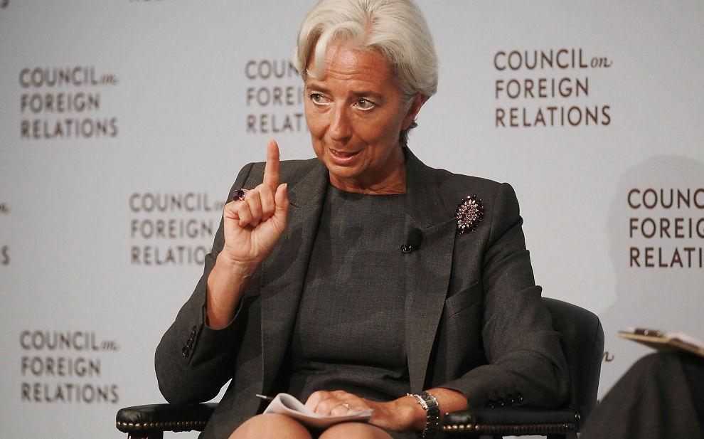 LAGARDE SNAKKER UT: Den nye IMF-sjefen maner regjeringene til å ta spareplanene alvorlig.