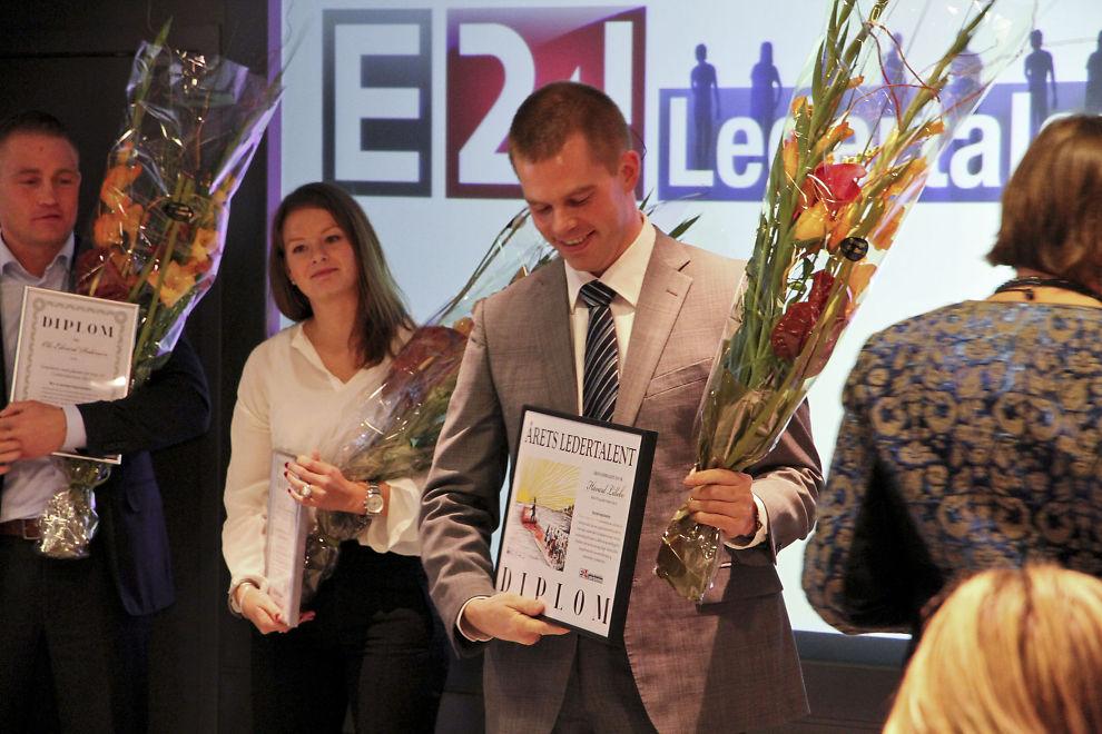 OVERVELDET: Håvard Lillebo mottok førstepremien i Ledertalentene 2011 fredag formiddag.