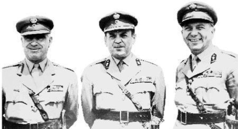<b>«DE SYV ÅR»:</b> Perioden 1967 til 1974, da blant annet oberstene Pattakos, Papadopoulos and Makarezos styrte Hellas, kalles gjerne «De Syv År».