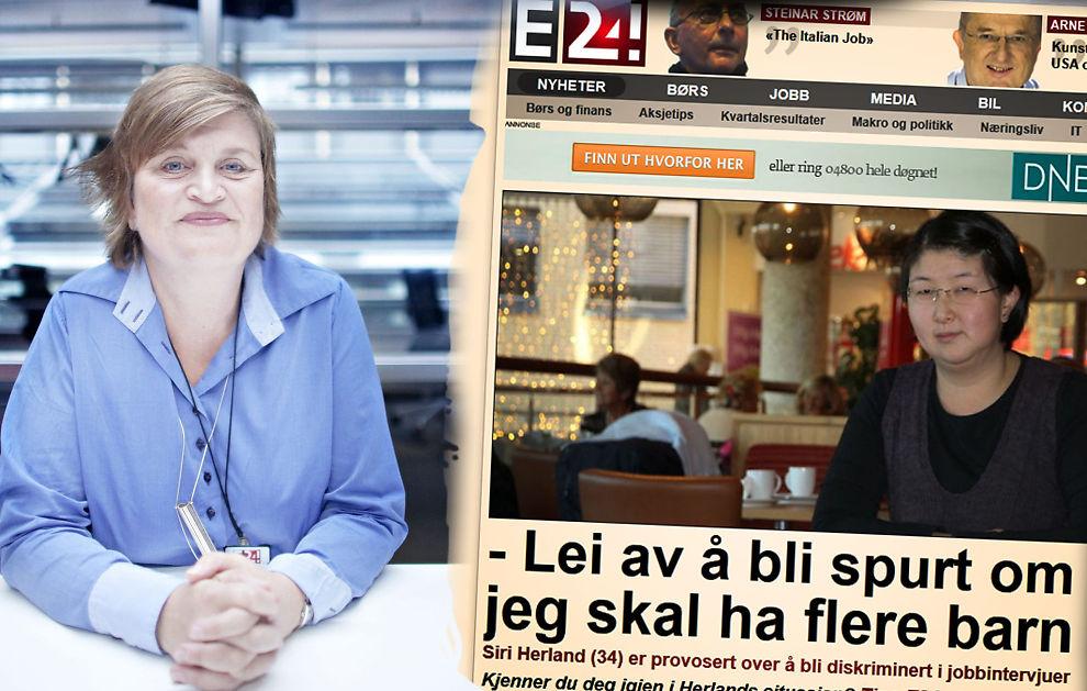 GRAVIDITET OG PERMISJON: Loven forbyr å spørre om dette under jobbintervju. Det er synd, mener Elin Ørjasæter (til venstre) i en kommentar til saken om Siri Herland (til høyre).