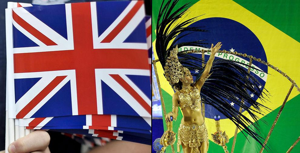 KNUSER STORBRITANNIA: Storbritannia må se seg slått av Brasil. Nå er sambaens hjemland verdens sjette største økonomi, ifølge økonomer.