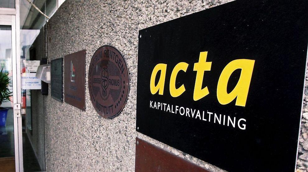 sTÅR UTEN KONSESJON: Har på eget initiativ avviklet virksomheten i Acta Kapitalforvaltning, ifølge Finanstilsynet.