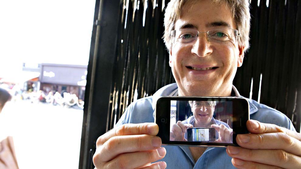 ÅPNES MED ANSIKTET: En ny Apple-teknologi vil la deg åpnen iPhonen med ansiktet. (NB: Bildet er et illustrasjonsfoto)