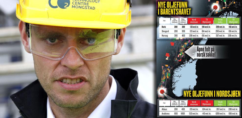 SJEIK PÅ NORSK: Olje og energiminister Ola Borten Moe. Se stor grafikk i bunnen av saken.