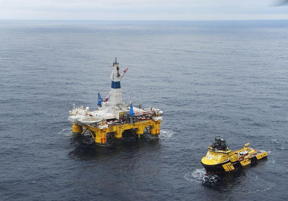 TRAFF BLINK: Boreriggen Polar Pioneer fant olje på Skrugard-prospektet. Foto: STATOIL