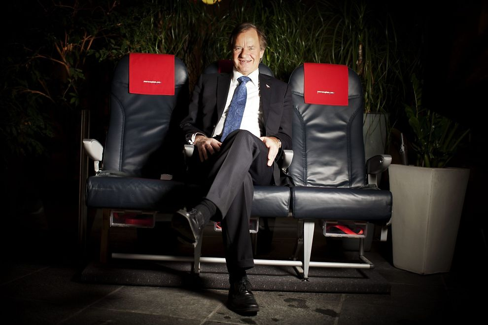 FLERE SETER: Bjørn Kjos bestilte denne uken flere tusen nye flyseter for Norwegian. Kjos sier han ikke er redd for hvordan han skal klare å fylle dem.