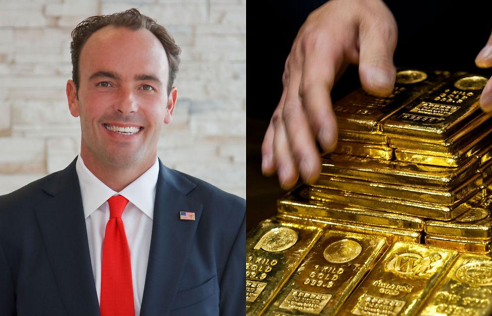 GULLET: Forvalter Kyle Bass mener at Texas-fond ikke må selge milliard-beholdning av gull.