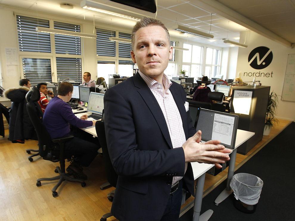 DÅRLIGE TIDER: Daglig leder Anders Skar i nettmeglerhuset Nordnet.