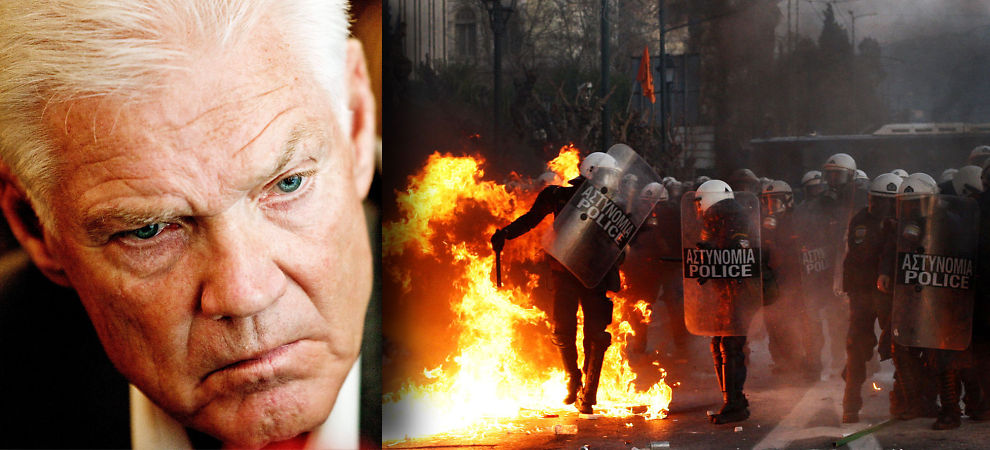 BEKYMRET: Arne Treholt er bekymret for det demokratiske underskuddet i Hellas.