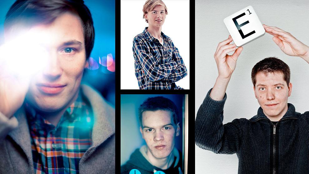 <p>APP'ENES KONGER: Fire norske app-gründere: Erik Storli (t.v), Andreas Ore Larssen (øverst i midten), Knut Ørland (midten under), Håkon Bertheussen (t.h).</p>