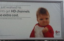 ANNONSE: Slik ser Success Kid ut i en ny annonse-kampanje.