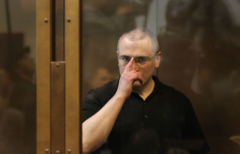 OMDISKUTERT: Fengselsstraffen som tidligere Yukos-sjef Mikhail Khodorkovskij soner blir av mange sett på som en politisk dom mot en Putin-kritiker.