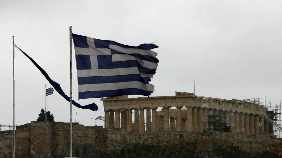 PÅ OPPLØPSSIDEN: Den greske regjeringen må i løpet av dagen får tilstrekkelig mange kreditorer til å gå med på en gjeldssanering.