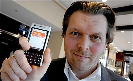 GRÜNDER: Islendingen Hördur Bender står bak Folkia, som tilbyr mikro- og SMS-lån til skyhøy rente. Foto: JONAS BORG