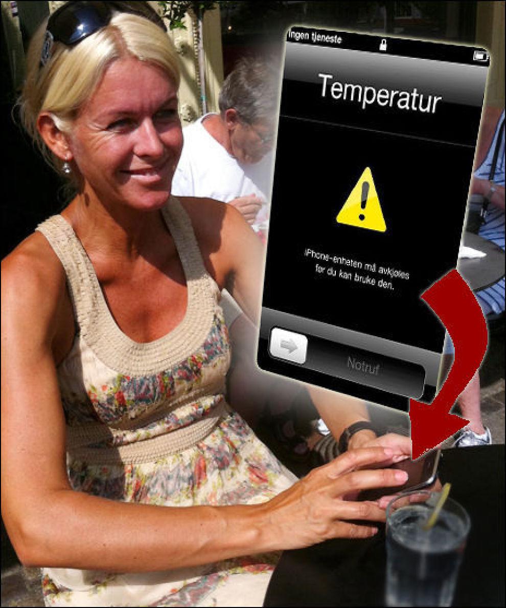 mobilen er varm