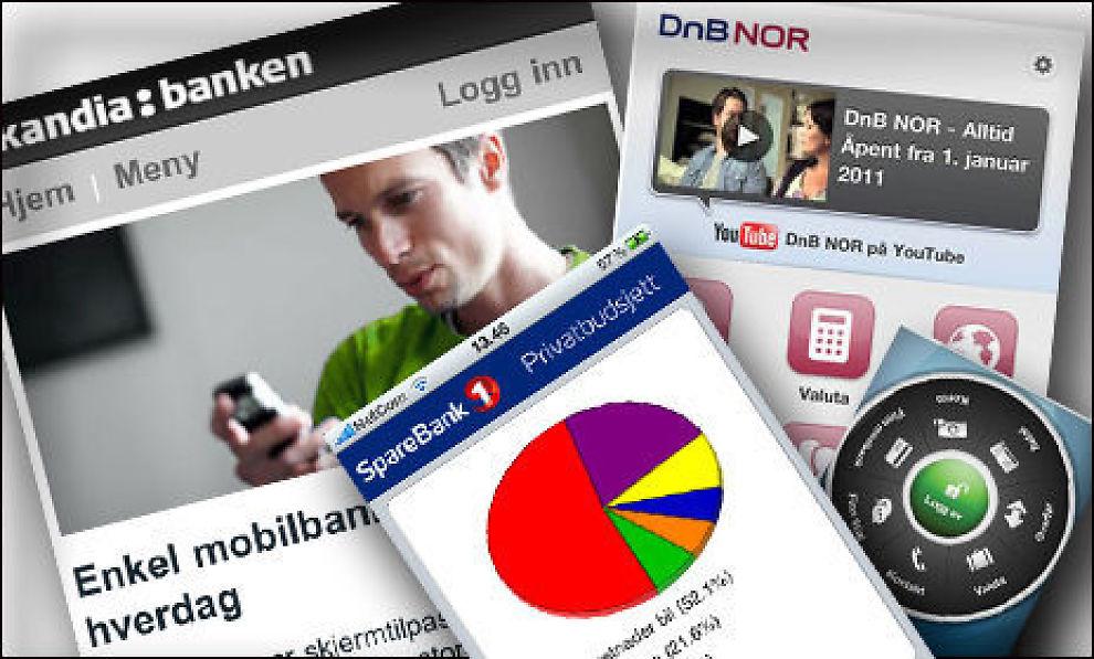 Du kan bruke nyttige apper fra bankene uavhengig av om du er kunde eller ei. Montasje: Sjur Jansen/Dine Penger