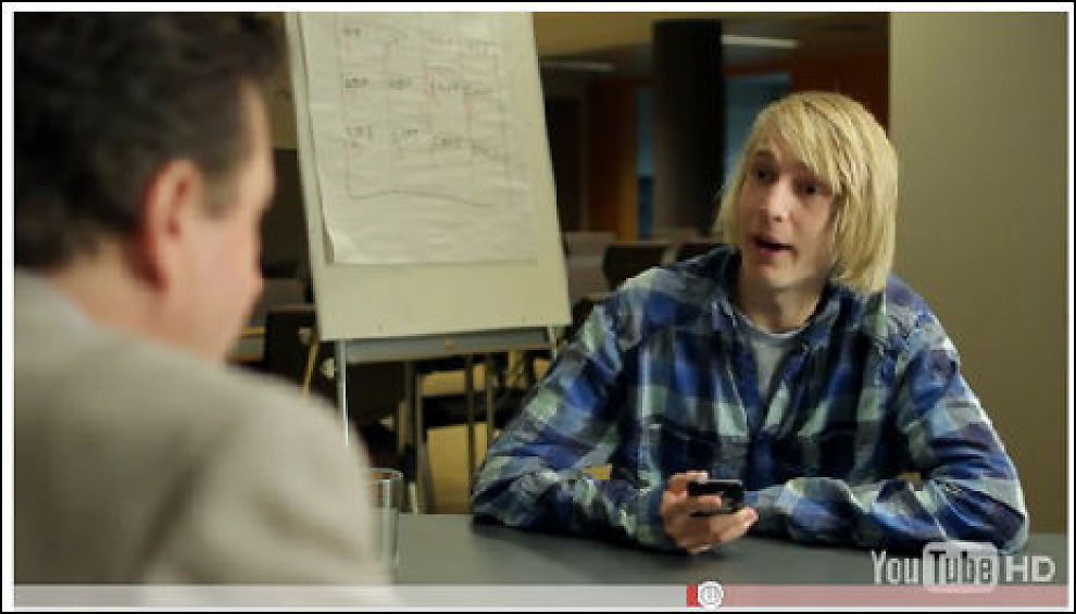 Nå også på YouTube. SkatteEtaten har laget film om Askeladden som skulle ha seg sommerjobb. Foto: Skjermdump fra skatteetaten.no