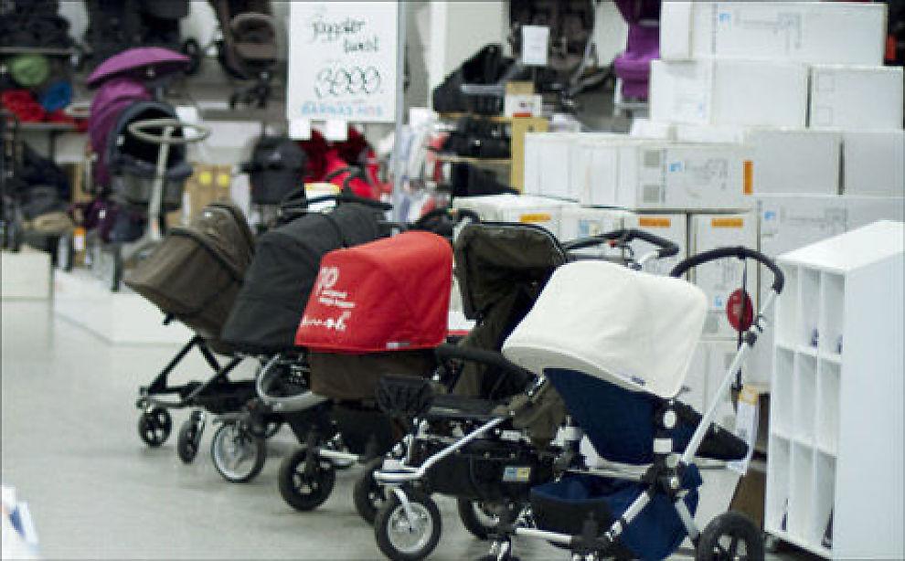 Barnevogn og bilsete er blant de største utgiftspostene når du får barn. Foto: Taral Jansen