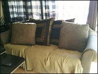 brukte og nye kontormøbler sofa