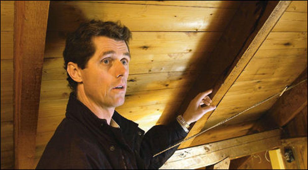 IKKE MED: Uinnredet loft skal ikke med i beregningen av P-rom, ifølge takstmann Nils-Erik Christiansen. Foto: Lars Aamodt