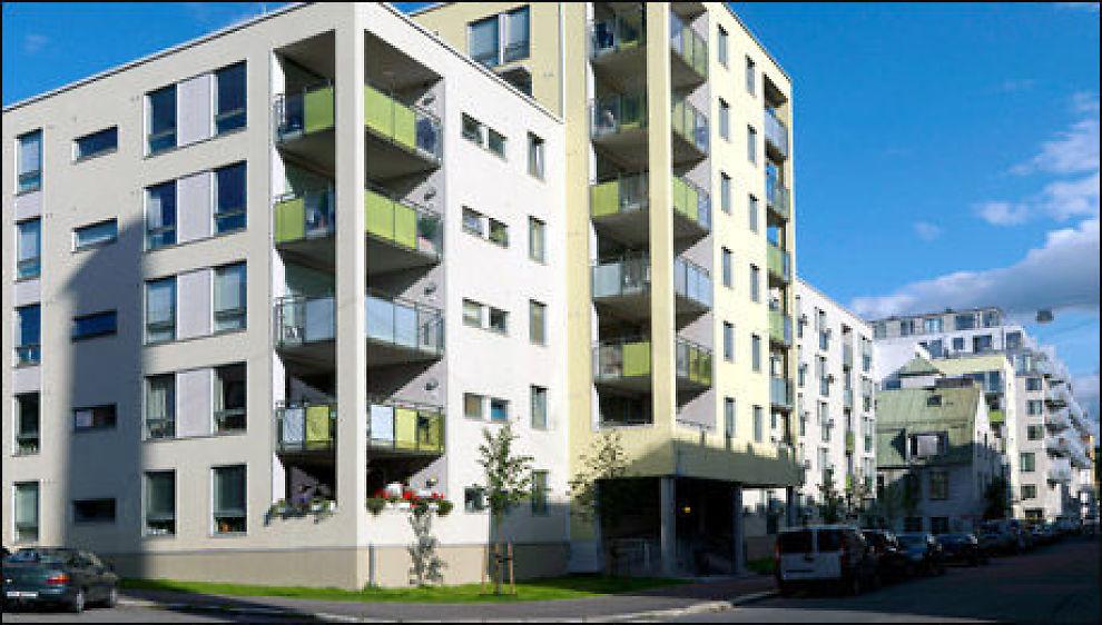 Selv en liten balkong kan gjøre store utslag på boligverdien. Her fra Sofies Hage på Rodeløkka i Oslo. Foto: Obos.