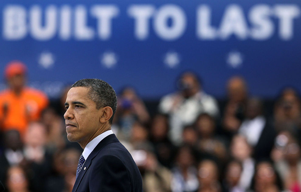 GJENVALGKAMP: Barack Obama håper på drahjelp fra økt øknomisk vekst når han i disse dager trapper opp valgkampen til høstens presidentvalg.