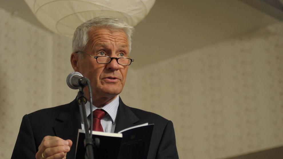 SLÅR ALARM: Thorbjørn Jagland reagerer på at å mange avgått toppolitikere går til kommunikasjonsbyrået First House.