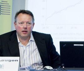 - ET REKORDÅR: - Prisene har aldri vært høyere, sier Leif J. Laugen I Eiendomsmeglerforetakenes forening under presentasjonen av boligprisstatistikk fredag.