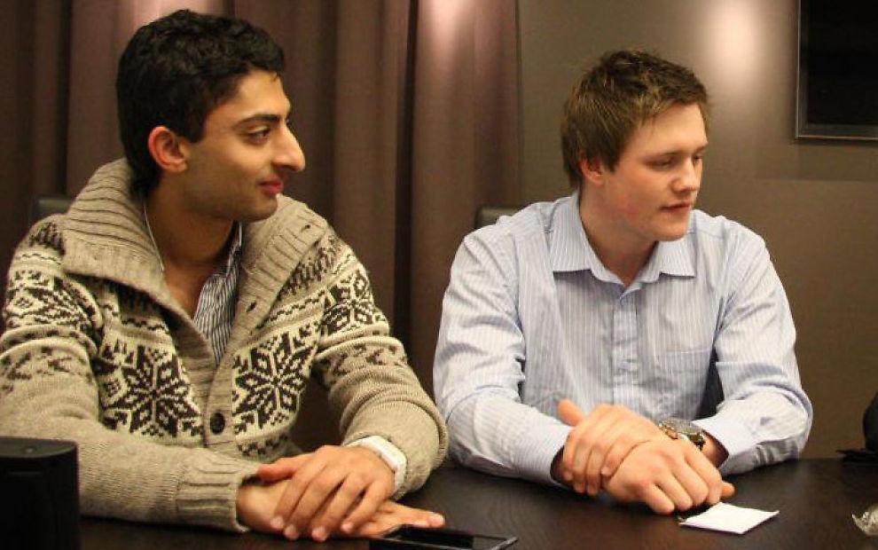 FIKK STØTTE: Gründerne Waleed Ahmed og Flemming Bordoy i Grønt Norge mottok 150.000 kroner i etableringstilskudd fra Innovasjon Norge.