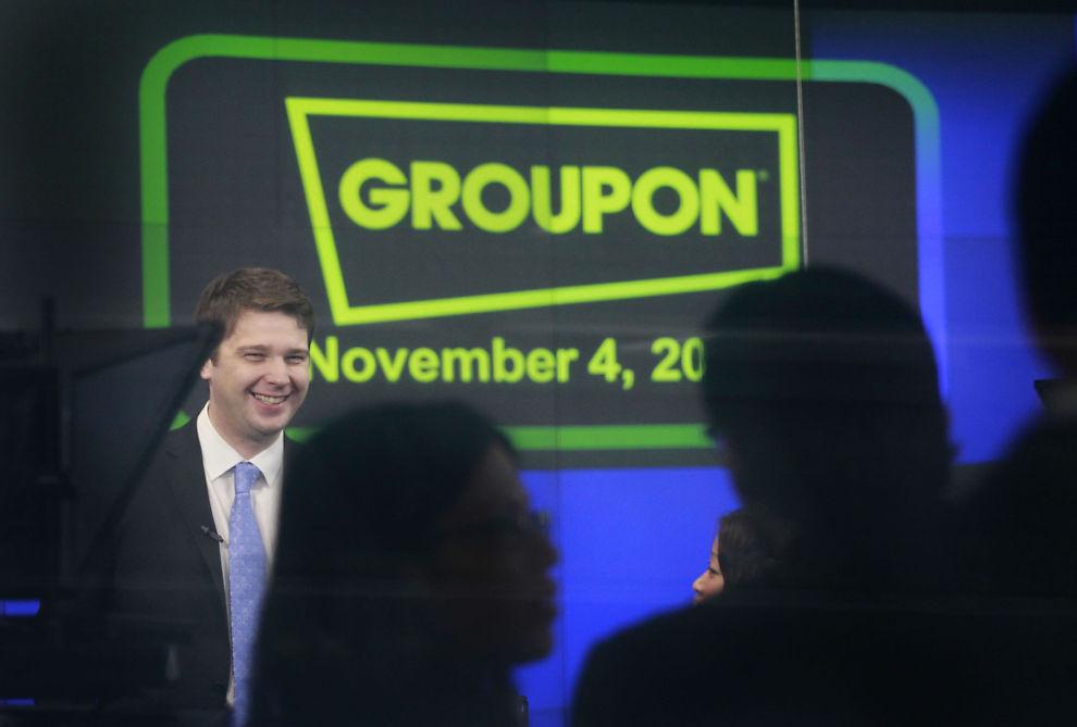 DRAKK ØL: - Beklager, for mye øl, harket konsernsjefen i Groupon under et møte med sine ansatte.